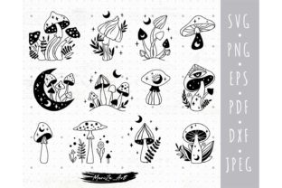 Magic Witchy Mushroom Bundle Graphic Illustrations By MySpaceGarden