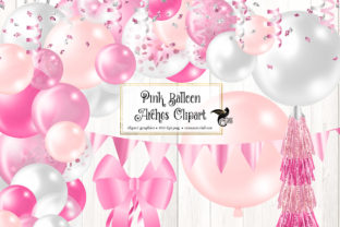 Print on Demand: Pink Balloon Arches Clipart Graphic Illustrations By Digital Curio