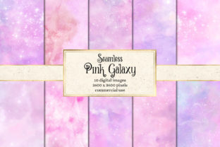 Print on Demand: Pink Galaxy Digital Paper Graphic Textures By Digital Curio