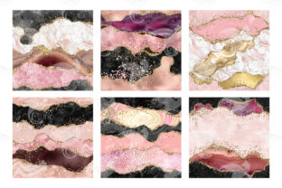 Print on Demand: Pink Glitter Agate Textures Graphic Textures By Digital Curio 4