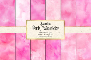 Print on Demand: Pink Watercolor Textures Graphic Textures By Digital Curio