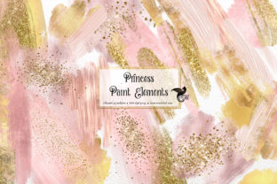 Print on Demand: Princess Paint Elements Clipart Graphic Illustrations By Digital Curio