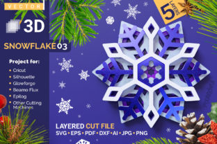 Snowflake 03 3D Layered SVG Cut File Graphic Crafts By pixaroma