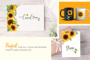 Print on Demand: Sunflower Watercolor Painting Graphic Illustrations By nesdigiart 5