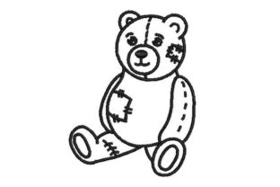 Teddy Bear with Patches Teddy Bears Embroidery Design By Embroidery Designs