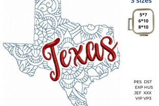 Texas State North America Embroidery Design By LaceArtDesigns 1