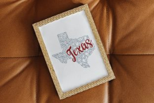 Texas State North America Embroidery Design By LaceArtDesigns 3
