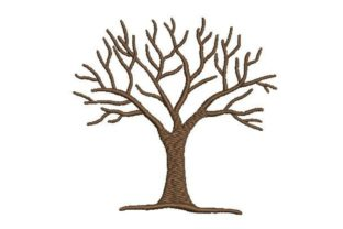 Tree with Bare Branches Forest & Trees Embroidery Design By Embroidery Designs