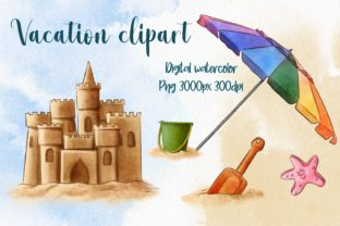 Summer Beach Vacation Clipart Graphic Illustrations By Arte de Catrin