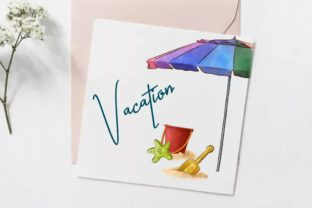 Summer Beach Vacation Clipart Graphic Illustrations By Arte de Catrin 2