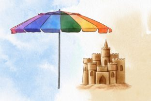 Summer Beach Vacation Clipart Graphic Illustrations By Arte de Catrin 3