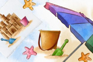Summer Beach Vacation Clipart Graphic Illustrations By Arte de Catrin 4