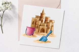 Summer Beach Vacation Clipart Graphic Illustrations By Arte de Catrin 5