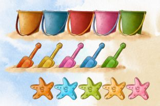 Summer Beach Vacation Clipart Graphic Illustrations By Arte de Catrin 6