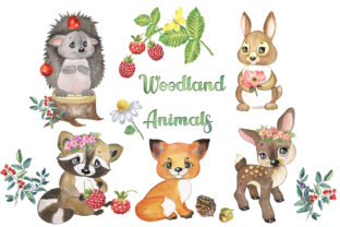 Woodland Animals Clipart Forest Animals Graphic Add-ons By EvArtPrint