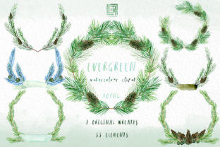 Evergreen. Forest Watercolour Collection Graphic Illustrations By LABFcreations