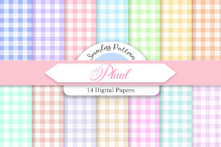 Print on Demand: Plaid Seamless Pattern Digital Papers Graphic Patterns By PinkPearly