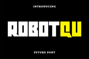 Print on Demand: Robot Qu Display Font By Letter Fia