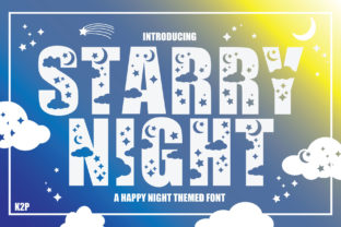 Print on Demand: Starry Night Decorative Font By KtwoP