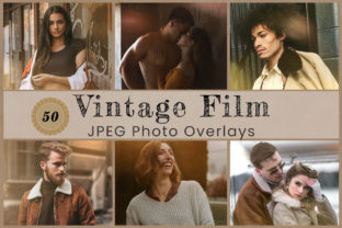 Print on Demand: 50 Vintage Photo Overlay Graphic Actions & Presets By 3Motional