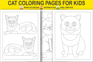 Cat Coloring Pages for Kids Graphic Coloring Pages & Books Kids By Pro Designer