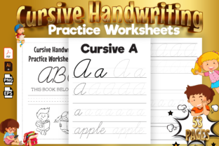 Print on Demand: Cursive Handwriting Practice Worksheets Graphic KDP Interiors By Kristy Coloring