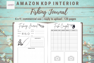 Print on Demand: Fishing Journal KDP Interior Template Graphic KDP Interiors By allaboutkdp