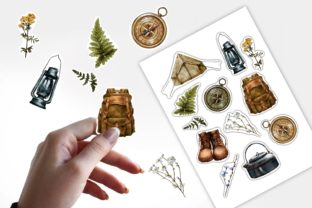 Hiking Stickers, Camping Travel PNG - 3