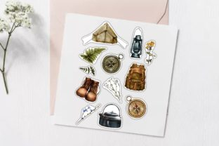 Hiking Stickers, Camping Travel PNG - 4
