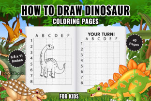 How to Draw Dinosaur for Kids Graphic Coloring Pages & Books Kids By KDP Booktopia