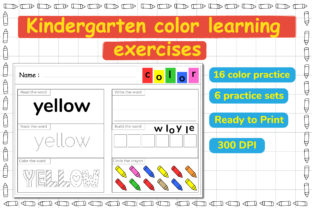 Kindergarten Color Learning Exercises Graphic Teaching Materials By Kids Zone
