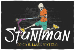 Print on Demand: Stuntman Display Font By Vozzy Vintage Fonts And Graphics