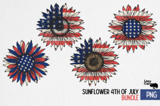 Sunflower 4th of July  Bundle Graphic Print Templates By Lazy Cat