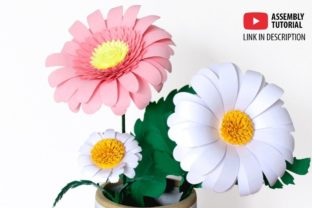 3D Daisy Paper Flowers 3D SVG Craft Cut File By Creative Fabrica Crafts