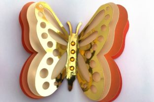 3D Layered Dragonflies and Butterflies 3D SVG Craft Cut File By Creative Fabrica Crafts 12
