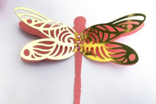 3D Layered Dragonflies and Butterflies 3D SVG Craft Cut File By Creative Fabrica Crafts 14