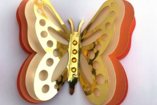3D Layered Dragonflies and Butterflies 3D SVG Craft Cut File By Creative Fabrica Crafts 4