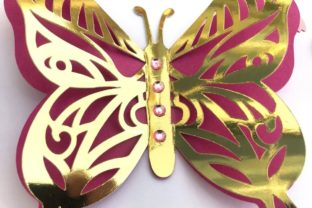 3D Layered Dragonflies and Butterflies 3D SVG Craft Cut File By Creative Fabrica Crafts 6