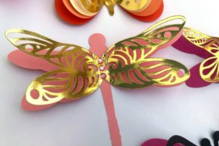 3D Layered Dragonflies and Butterflies 3D SVG Craft Cut File By Creative Fabrica Crafts 8