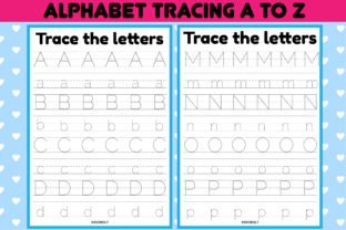 Print on Demand: Alphabet Tracing Worksheets a-Z Graphic K By kidobolt