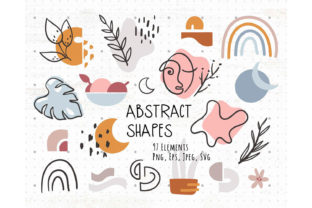 Boho Abstract Shapes Bundle Graphic Illustrations By MySpaceGarden