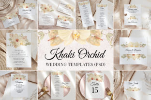 Print on Demand: Boho Orchid Wedding Template Cards Graphic Print Templates By PawStudio