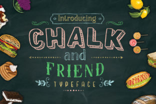 Print on Demand: Chalk and Friend Display Font By Alit Design
