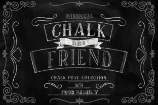 Print on Demand: Chalk and Friend Display Font By Alit Design 11