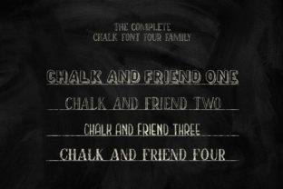 Print on Demand: Chalk and Friend Display Font By Alit Design 17