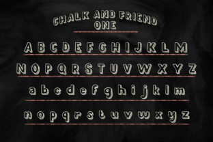 Print on Demand: Chalk and Friend Display Font By Alit Design 4