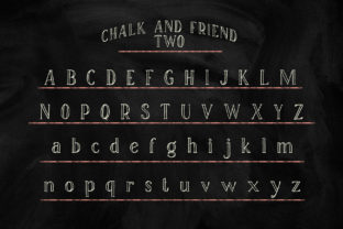 Print on Demand: Chalk and Friend Display Font By Alit Design 6