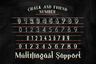Print on Demand: Chalk and Friend Display Font By Alit Design 7