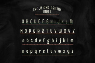 Print on Demand: Chalk and Friend Display Font By Alit Design 9