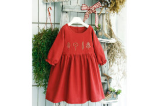 Embroidered Dress Baby Girl 2-10 Years Graphic Sewing Patterns By jeremyfrossard
